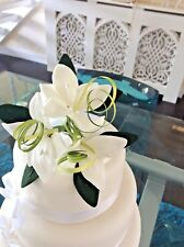 WEDDING CAKE SUGAR FLOWERS STAR LILIES IN WHITE , MOST COLOURS AVAILABLE