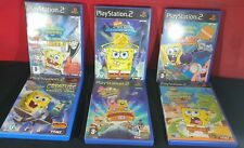 SpongeBob SquarePants X 6 Bundle (Sony PlayStation 2) VGC