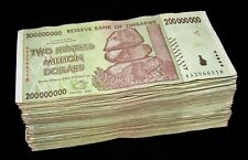 250 x Zimbabwe 200 Million Dollar banknotes- 2008 AA only / currency