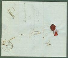 Prefilatelia. MARCHE. Lettera da S.Ginesio (Macerata) a Pistoia del 1848.