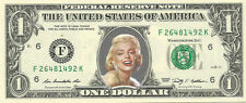 Marilyn Monroe Dollar Bill {in COLOR}- REAL Money! - Not Just a Novelty!