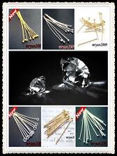 Free 100PCS Jewelry Design Repair gold Silver plated BALL FLAT HEAD PINS Needles