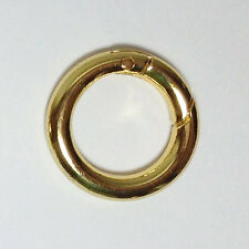 "2 Gold Plated Spring Gate O-Rings 1"" - Free Shipping"