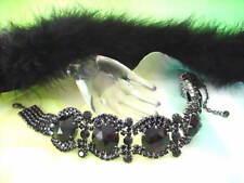 Prächtiges Strass Halsband Schwarz - Exklusivmodell aus Gablonz/Böhmen - kla041