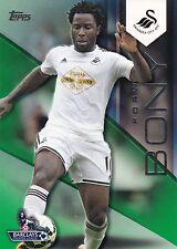 2014 Topps Premier Gold. Wilfried Bony (Swansea City) Green 28/60