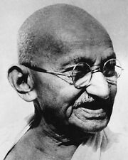 MOHANDAS GANDHI PORTRAIT 8x10 SILVER HALIDE PHOTO PRINT