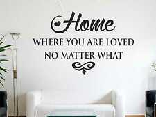 Home Where You Are Loved No Matter What Wall Sticker Art Wall Quote Decal c27