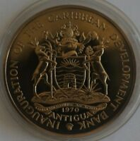 ANTIGUA $4 1970 Cu-Ni Proof Crown FAO