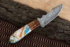 MH KNIVES CUSTOM HANDMADE DAMASCUS STEEL FULL TANG HUNTING/SKINNER KNIFE D-50N