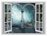 Forest Gates Heavenly Door Window Poster 3D Wall Sticker Vinyl Decal Mural