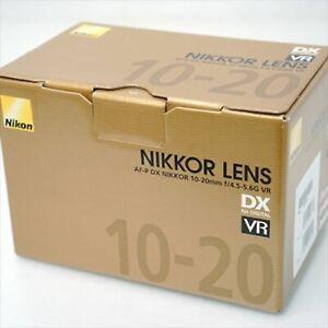 Nikon wide angle zoom lens AF-P 10-20 mm f/4.5-5.6 G VR Nikon DX format only NEW