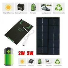 2W 5V Solar Panel USB Port Phone Charger Travel Portable Q3X5