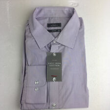 Men's John Lewis Shirt 18 Neck Purple Stripe, Classic Fit, BNWT, Single Cuff £39