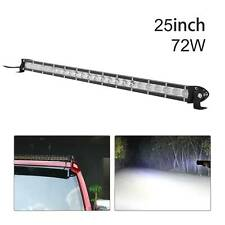 LED Work Light Bar Spot Flood Roof Lights Driving Lamp Offroad Car SUV ATV 72W