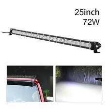 LED Work Light Bar Spot Flood Roof Lights Driving Lamp Offroad Car SUV ATV 72W