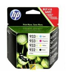 HP 932XL / 933XL Original High Capacity Ink Cartridge 4 Pack- brand new