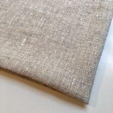 Plain Stonewashed Natural Beige Linen Fabric Remnant 50x50cm Modern Fabric Craft