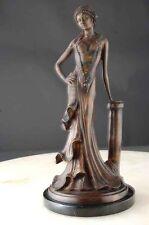Bronze Sculpture Elegant Lady Art Deco Nouveau