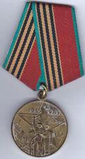 Soviet Medal - 40th Anniv. Victory Great Patriotic War - Civilian -  B7929