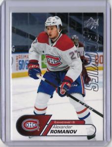 ALEXANDER ROMANOV 20/21 Upper Deck UD Rookies Box Rookie Card #22 Canadiens 🔥