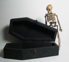 Dollhouse Miniature Empty Coffin for Halloween - Your Choice of Interior Color!
