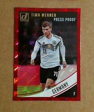 2018-19 Panini Donruss Soccer Timo Werner Germany Red Press Proof Card