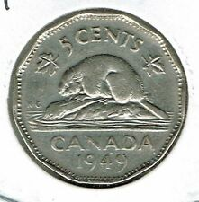 1949 Canadian Circulated  George VI Five Cent Coin!