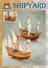 Shipyard 65: Columbus-Flotte Santa Maria & Nina 1:96 mit Lasercutteilen