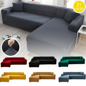 Stretch Corner Sectional Sofa Cover Chaise Longue Chair For Couch Protection