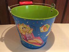 Vintage Muppets Beach Sand Pail Bucket Miss Piggy Kermit Frog Fozzy Bear Animal