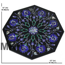 Italian Marble Tile Inlay Pietra Dura Gem Stones Vintage Mosaic Scagliola Art