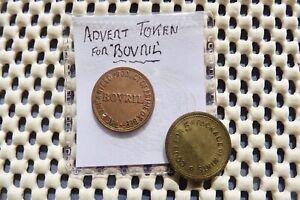 "Token. "" Good For 5c Package of Mints"". No.20. BOVRIL token ""more nourishing..."""