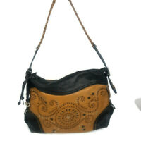 Authentic BRIGHTON Black Brown MONTANA Montreal SHOULDER BAG Purse Hard to find!