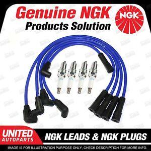 4 NGK Spark Plugs Ignition Leads Set for Nissan Pulsar N13 4Cyl SOHC 8V