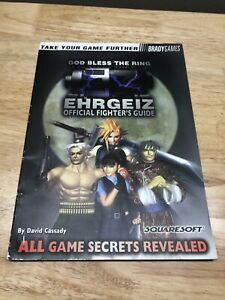 Ehrgeiz Official Fighter's Game Strategy Guide God Bless the Ring EZ Bradygames