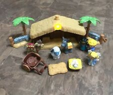 FISHER PRICE LITTLE PEOPLE NATIVITY SET MANGER SCENE pieces Not Complete