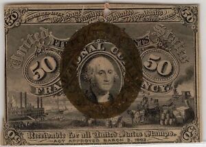 FR. 1317 50¢ 2nd ISSUE FRACTIONAL NOTE - XF/AU