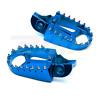 ART PEDANE MAGGIORATE IN ERGAL CNC BLU OFF ROAD FOOT PEGS BLUE HUSQVARNA