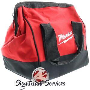 "New Milwaukee M12 11"" x 10"" x 8"" Heavy Duty Contractors Tool Bag"