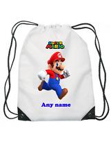 GIRLS Boys Personalised Super Mario BAG for Gym SchooL Football PE Swim!!
