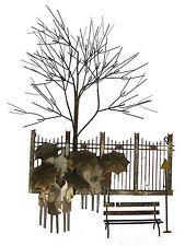 Curtis Jere Vintage Bus Stop metal Sculpture - Signed