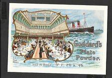 Vintage Postcard Advertising Shipping Scene  Goddard's Silver Plate Powder