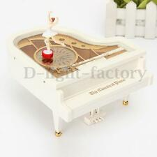 Cute Love Dreamer White Piano Dancer Ballet Girl Music Box Toy Valentine's Gift