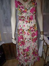 KALEIDOSCOPE PINK FLORAL MAXI  DRESS,   12, 14,     RRP  £45 CLEARANCE