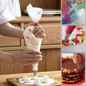 100 Pcs S/M/L Plastic Disposable Piping Bags Pastry Icing Cake Decorating Tool