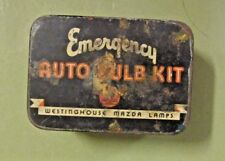 VINTAGE WESTINGHOUSE MAZDA LAMPS EMERGENCY AUTO BULB KIT TIN PARTS INCLUDED