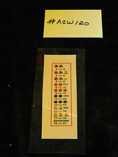 ALT WATLING REPRO AWARD CARD FOR ANTIQUE SLOT MACHINE #ACW-120