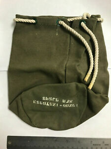 Vintage US Army 12576953 Military Green 120MM Motar Small Canvas Tote