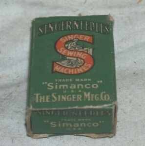 Singer original green box of 24x1 needles, for Singer toy and industrial machine