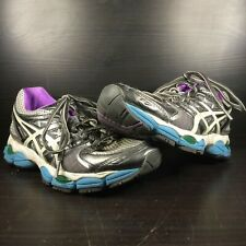 Asics Gel-Nimbus 14 Women's Size 7 Gray Running Training Jogging Shoes T291N